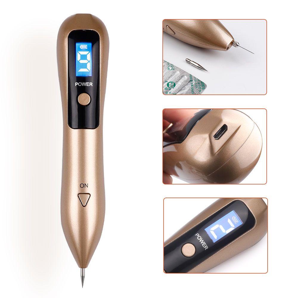 9 Level LCD Viso Skin Skin Spot Spot Remover Mole Tattoo Rimozione Laser Pensma Penna Macchina Penna Viso Freckle Tag Verrucio Rimozione della guardia Beauty Care