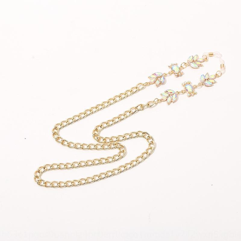 Novos acessórios de moda simples sol acessório colorido de diamantes cadeia pendurado no pescoço óculos de sol óculos anti-gota acessórios corda