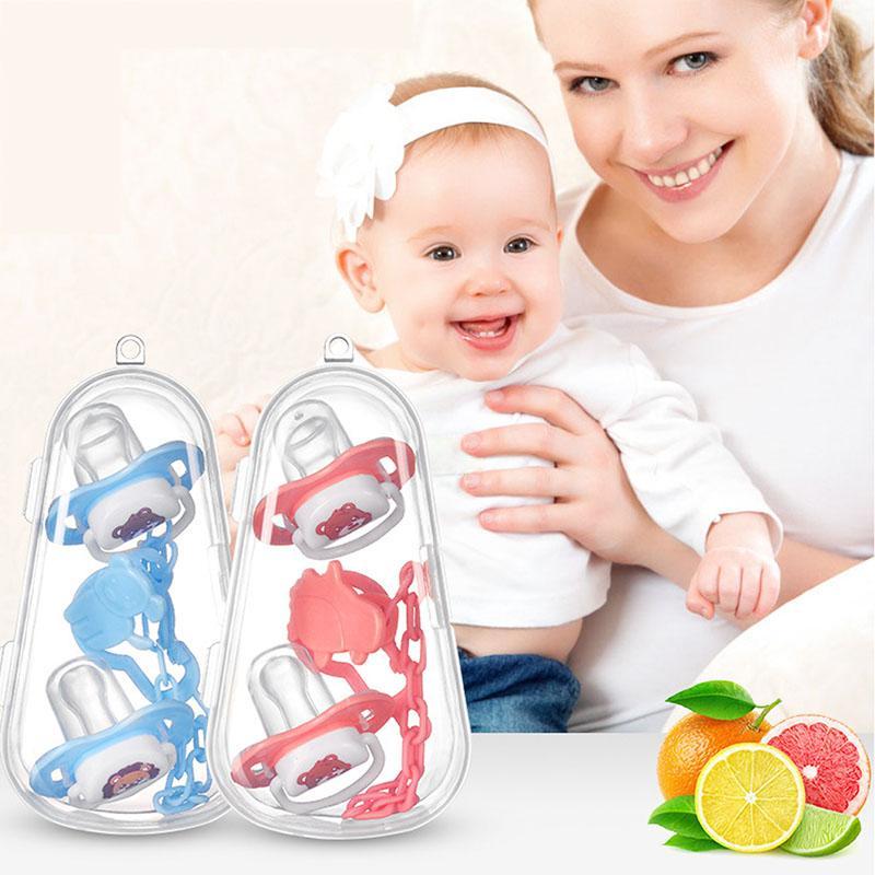 1 set di accessori Cute Cartoon dell'ugello del bambino Set Grade PP bambino Pacifer capezzoli per il neonato sicurezza rifornimenti di alimentazione