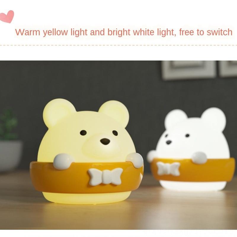 controle remoto LED noite mesa de protecção cabeceira sono do bebê olho lâmpada de mesa luminoso quarto luz para a enfermagem e de enfermagem eno luminosa