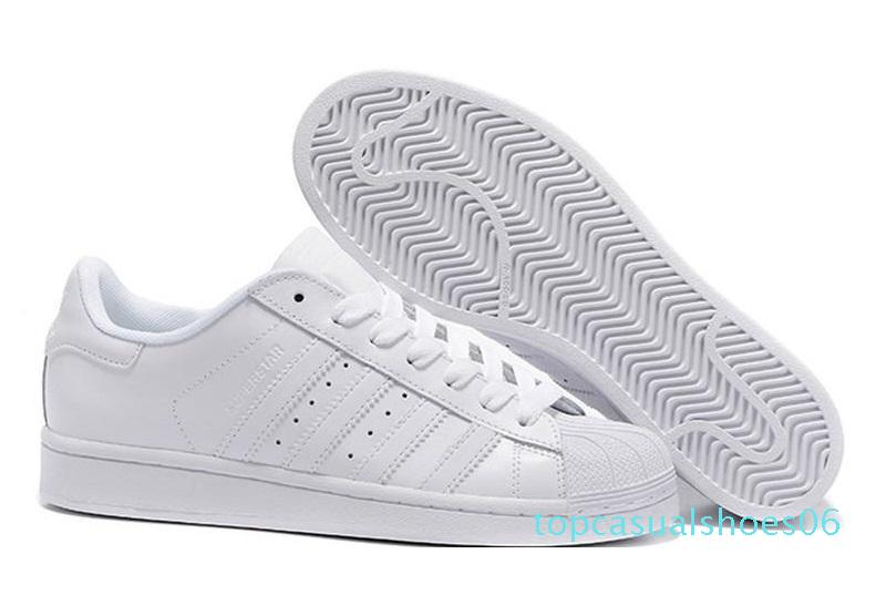 Livraison gratuite Superstar Blanc Noir Rose Bleu Or Superstars 80 Fierté Sneakers Super Star Femmes Hommes Sport Chaussures Casual UE SZ36-45 de T06