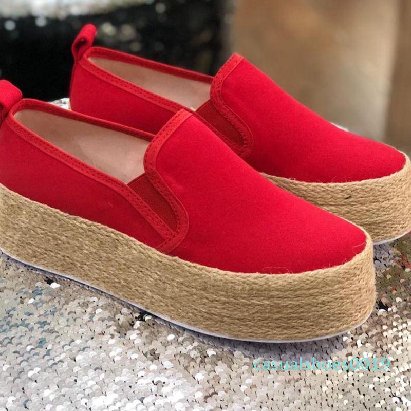 MoneRffi Moda Topuklar Flats plimsolls Katı Bayanlar Casual Keten Ayakkabı Kadınlar Kenevir Ayakkabı Espadrille Balıkçı c19