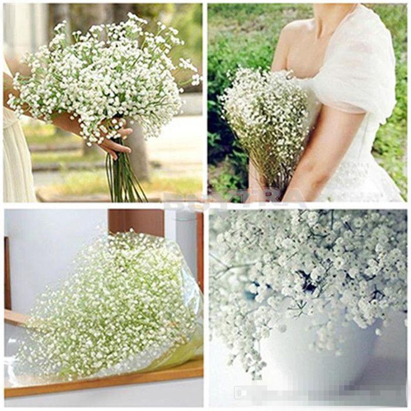 Искусственный Поддельный Babys Breath Гипсофила Silk Flowers Bouquet Главная Свадеб украшения Декор c626