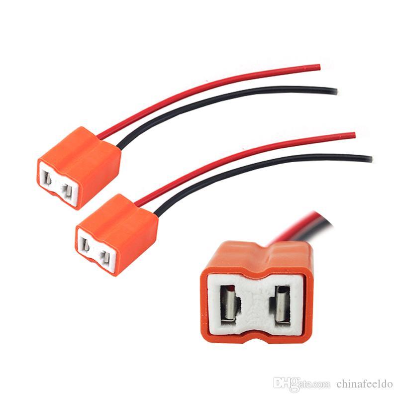 LEEWA 2pcs Voiture Auto Céramique H7 Douille H7 Douille H7 Connecteur # 5466