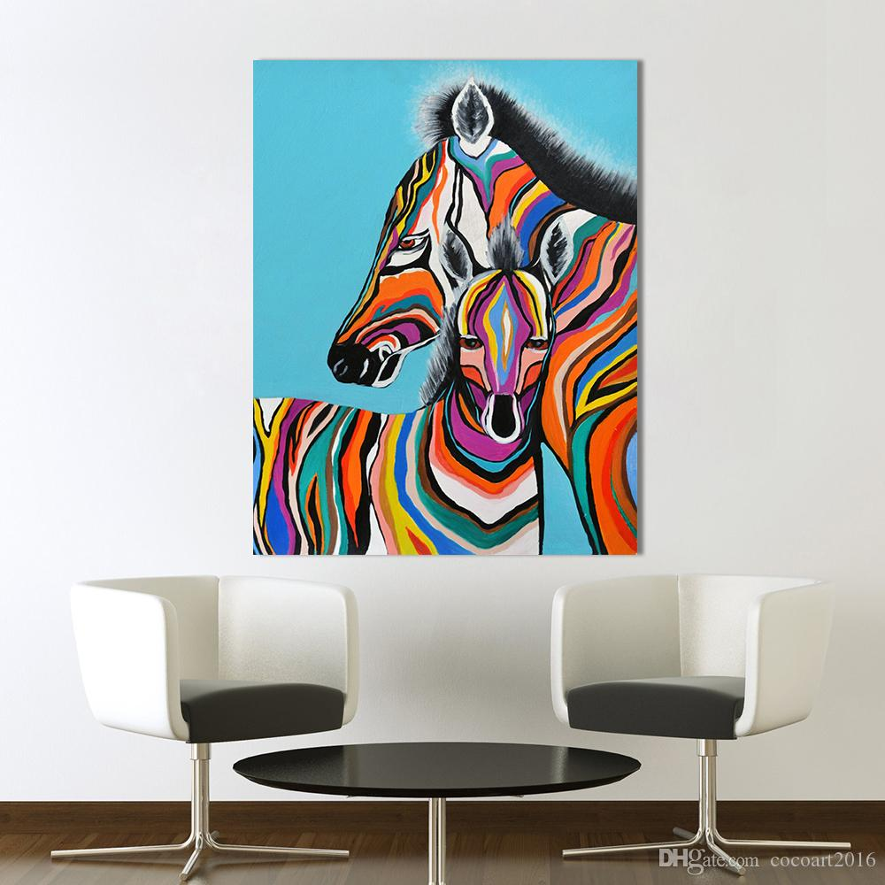 Home Decor Modern Zebra Paintings Art Bedroom Animal HD Print on Canvas