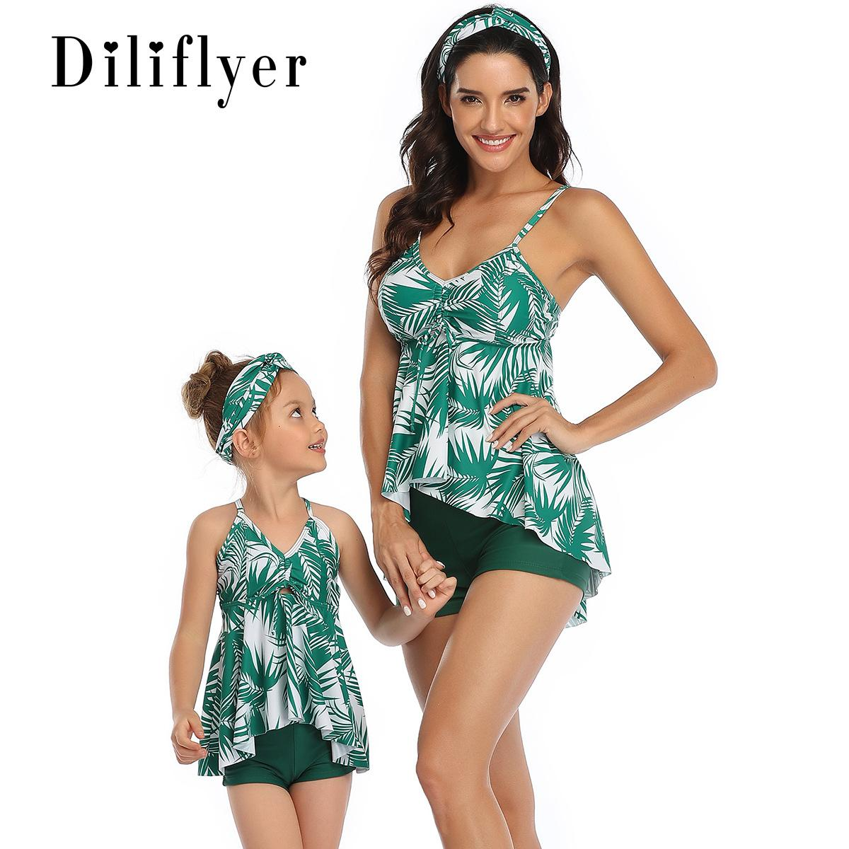 Hirigin famille Matching Maillots de bain 2020 New Mother And Pieces Me Summer tankini 2 Set maillot de bain Plage Natation Porter maillot de bain