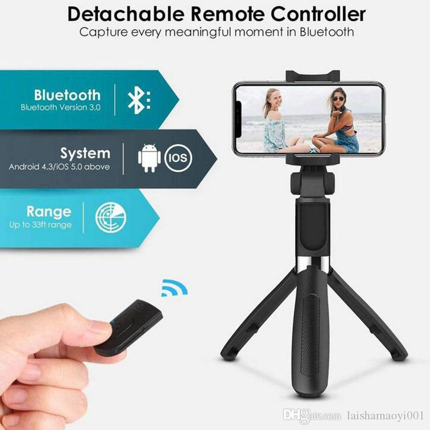 2020 3 In 1 Wireless Bluetooth Selfie Stick For Iphone 8 X 7 6s Plus Foldable Handheld Monopod Shutter Remote Extendable Mini Tripod From Laishamaoyi001 7 89 Dhgate Com