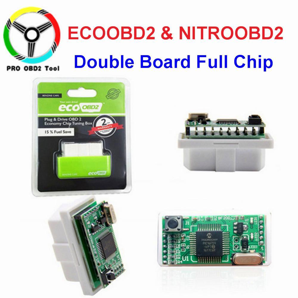 Compre New EcoOBD2 Nitro OBD2 Gasolina Desempenho Plug Rígido Para Benzine  Eco OBD2 ECU Tuning Chip Box 15% Da Economia Do Combustível Mais Poder De