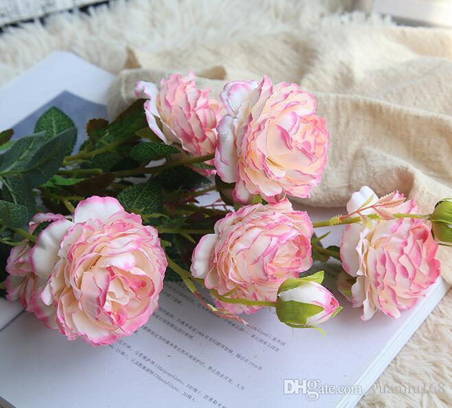 الساحرة الزهور الاصطناعية عالية الجودة القماش الفاوانيا الزهور العروس باقة الرئيسية سيارة التعشيب ديكور سكرابوكينغ الإمدادات GB354