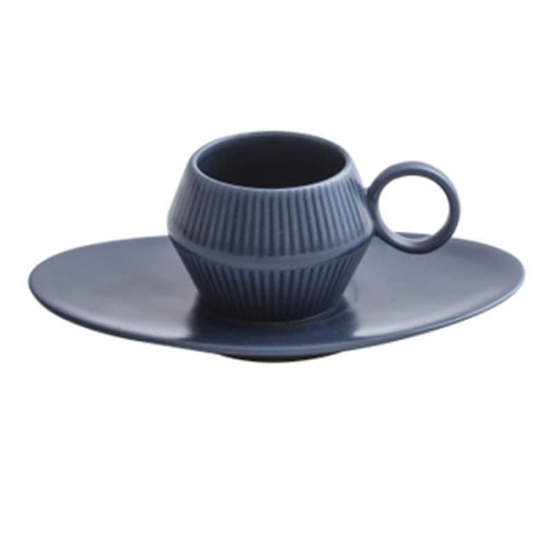 керамика Эспрессо маленькая чашка и блюдце набор бытовых простой европейский кружок кофе завтрак чашка