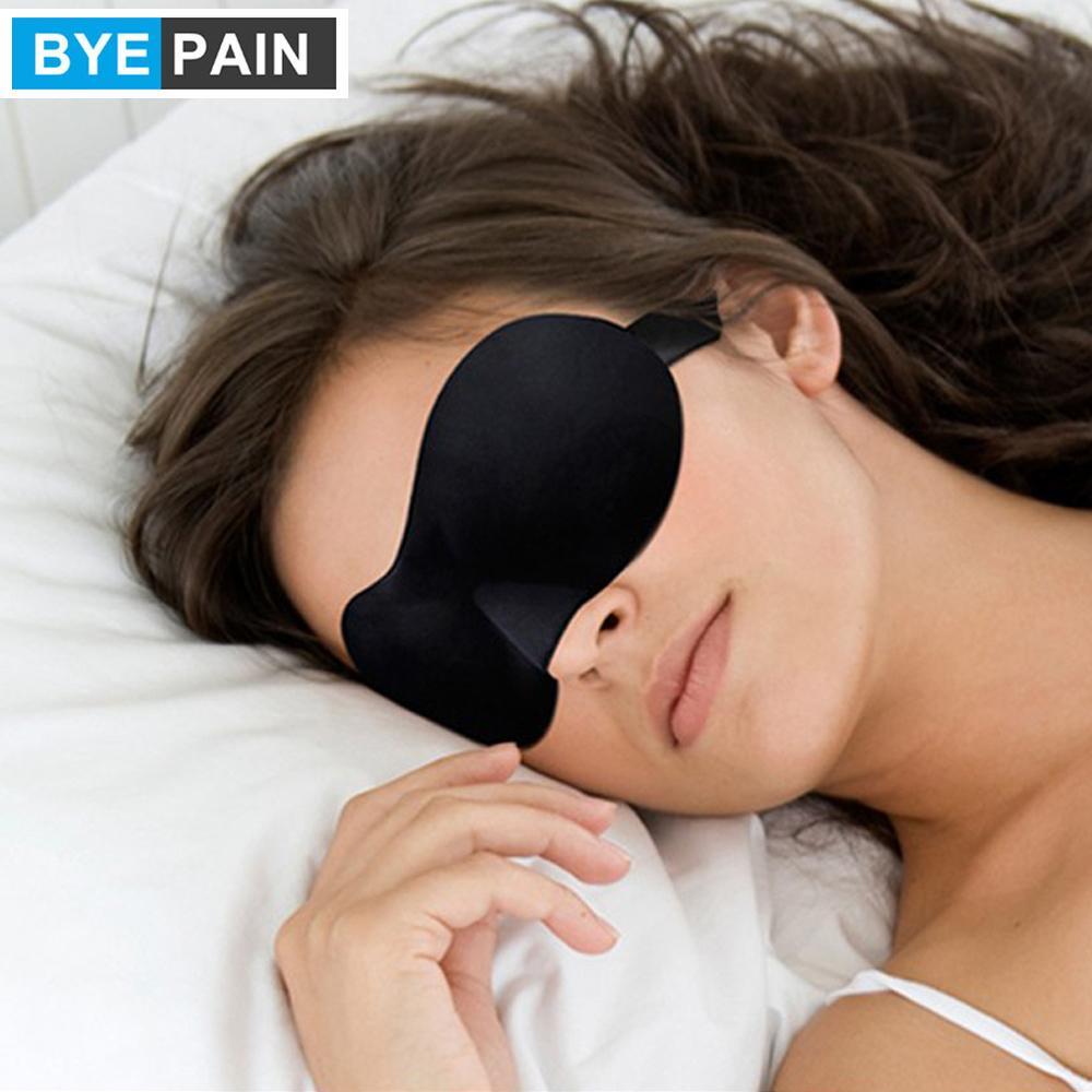 1pcs BYEPAIN Sleeping Eye Mask 3D duerme cubierta visera natural sombra de debilidad con los ojos vendados viaje Parche cubierta portátil