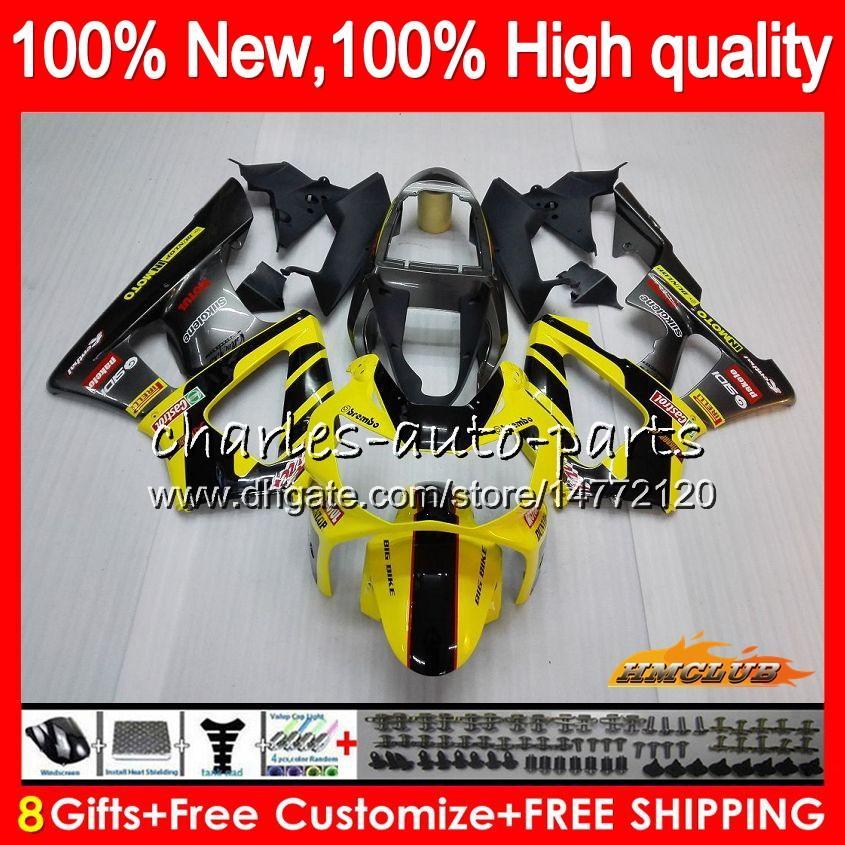 Bodys para HONDA CBR 929RR 900 929 RR CC 900cc 929CC 900RR CBR929RR 76HC.21 de color amarillo claro CBR900RR CBR929 RR CBR900 2000 2001 00 01 carenado