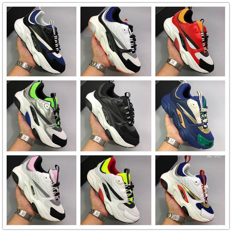 2020 de lujo Homme B22 zapatilla de deporte de Italia cuero del diseñador de malla transpirable de superficie forman los zapatos ocasionales Hombres Mujeres Deportes Formadores Formación 36-45