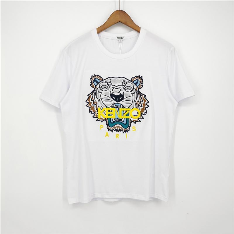 Модный бренд мужские дизайнерские футболки девушки футболка с коротким рукавом рубашки Тигр и буквы женские летние тройники высокое качество A1KKU 2031704V