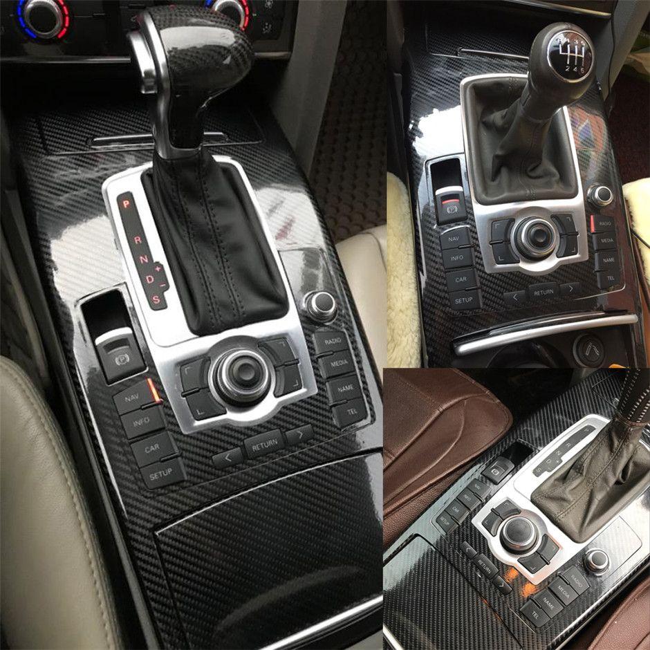 Per Audi A6 C6 2005-2011 adesivi in fibra di carbonio Adesivi 3D 5D dell'automobile del vinile autoadesivo auto e decalcomanie Accessori auto Styling