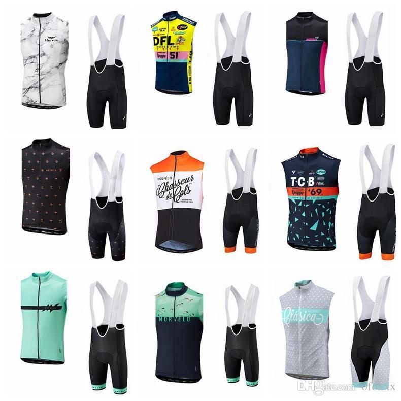 Morvelo ciclismo su misura senza maniche maglia maglia pantaloncini set di tute da ciclismo sportivo da uomo abbigliamento da ciclismo sportivo S5833