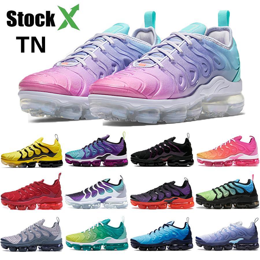 Nike Air Vapormax Plus TN Geométrico Activo Fucsia Negro Hombres Mujeres Zapatillas de Rejilla Imprimir Lemon Lime Bumblebee Juego Royal Entrenadores Zapatillas Deportivas 36-45