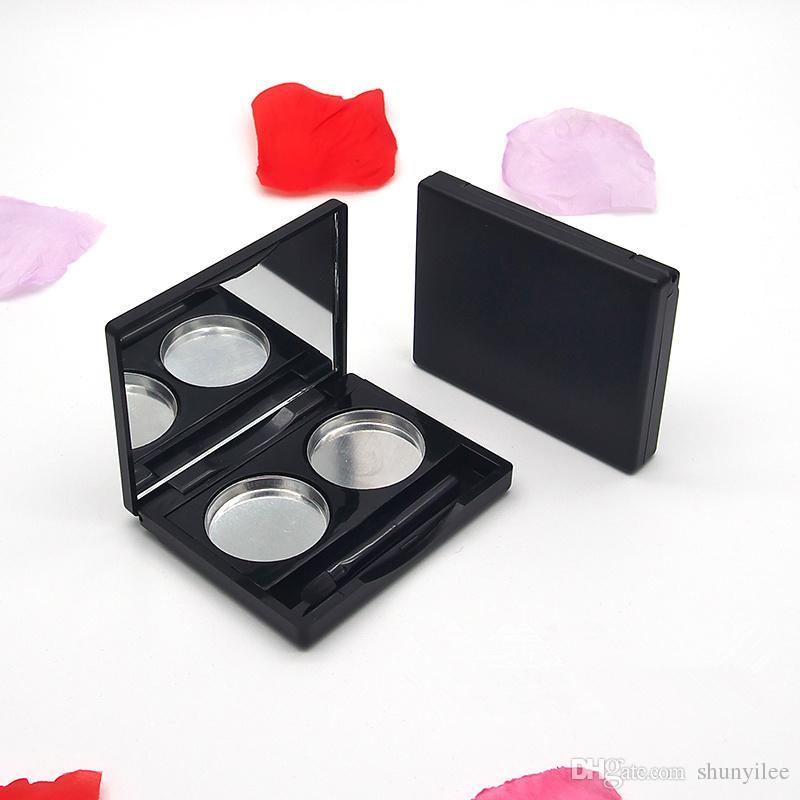 Boş makyaj Paleti DIY Pigment Tepsi Tutucu Kutusu Kasa için Göz Farı / Allık / Vurgula / Kaş tozu / Gevşek toz F2379