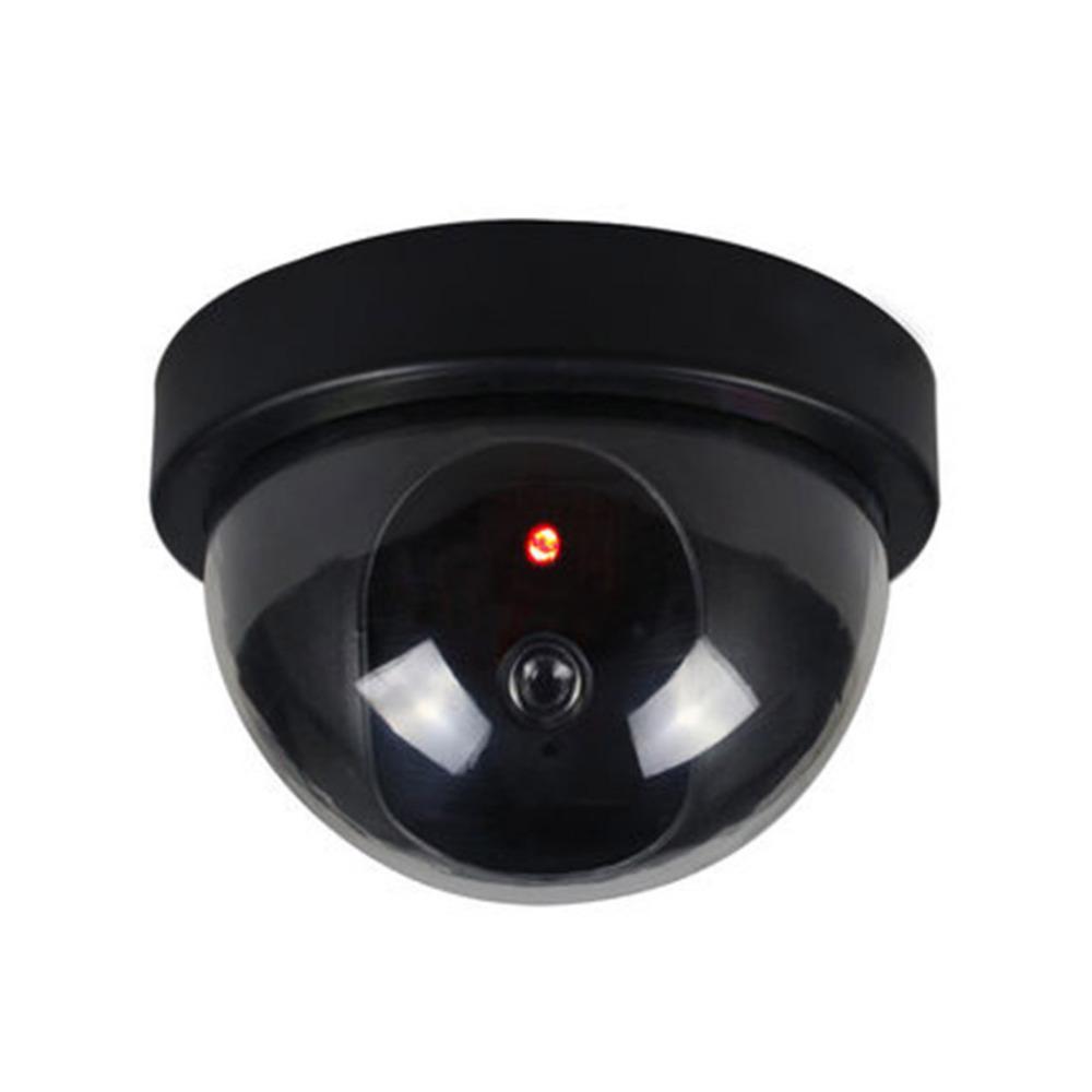 C/ámara de Seguridad de CCTV Falsa de CCTV Falsa para Interiores//Exteriores de pl/ástico Elegante con luz LED roja Intermitente CA-05 Color:Black