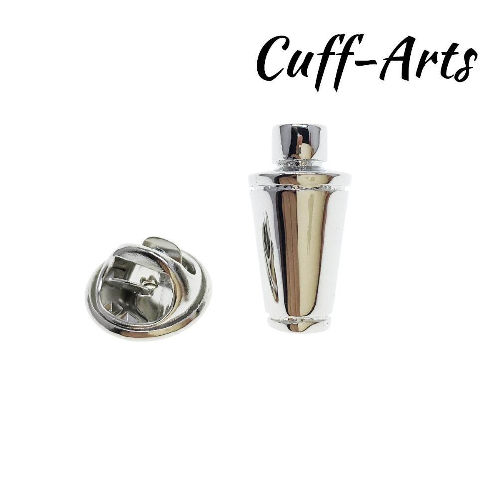 Pin de la solapa para los hombres Pins y broches Cocktail Shaker insignia joyería Broche PIN de la solapa con caja de regalo por cuffarts P10174