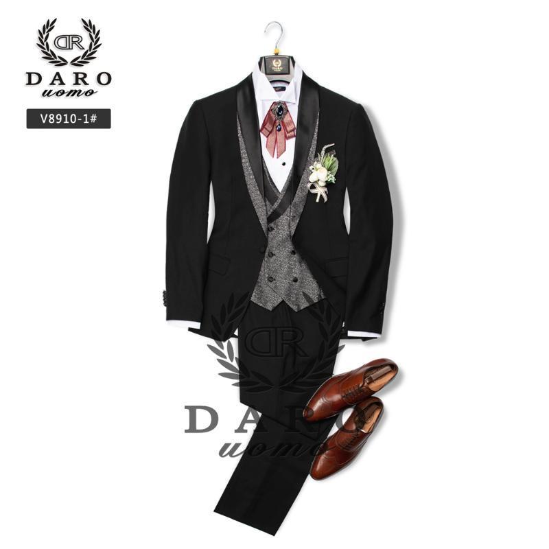 DARO Tuxedo Black Жениха костюм Свадебный Грум Tuxedo партии убранством 2020 НОВЫЙ Desingn