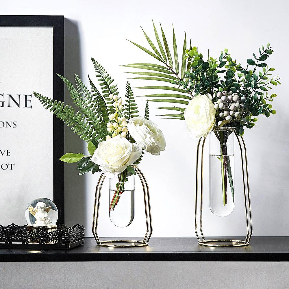 Decoración del hogar nórdicos Accesorios Decoracion Hogar Moderno decoración del florero del hogar terrario de cristal del florero de las flores de la sala T200624