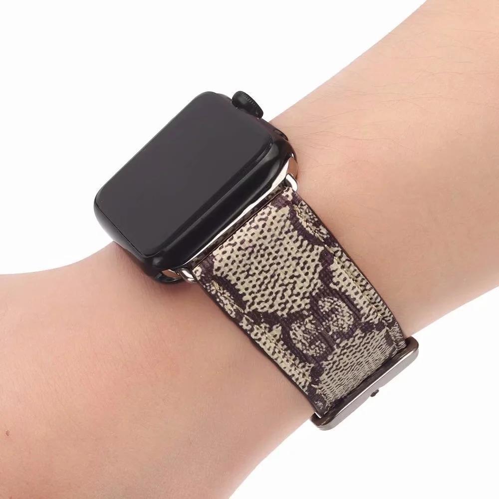 Fashion Designer pour la bande montre de pomme 44mm 42mm 40mm 38mm cuir Smart Luxury watchbands Bracelet intelligent Bracelet A07
