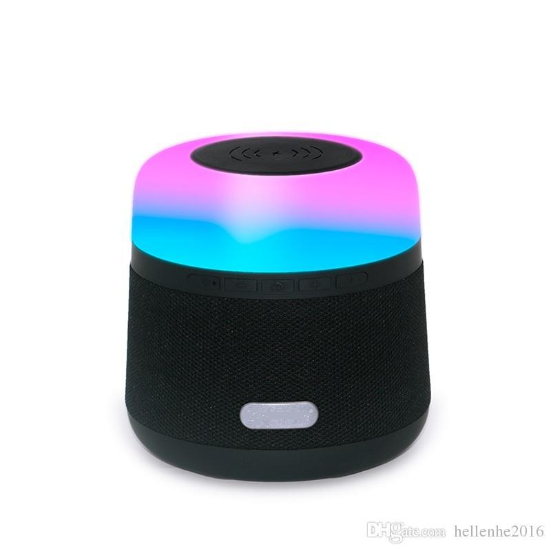무선 충전기가있는 블루투스 스피커 LED 무선 충전 TWS 도킹 도크 (iPhone X / 8) Samsung Note 8/9