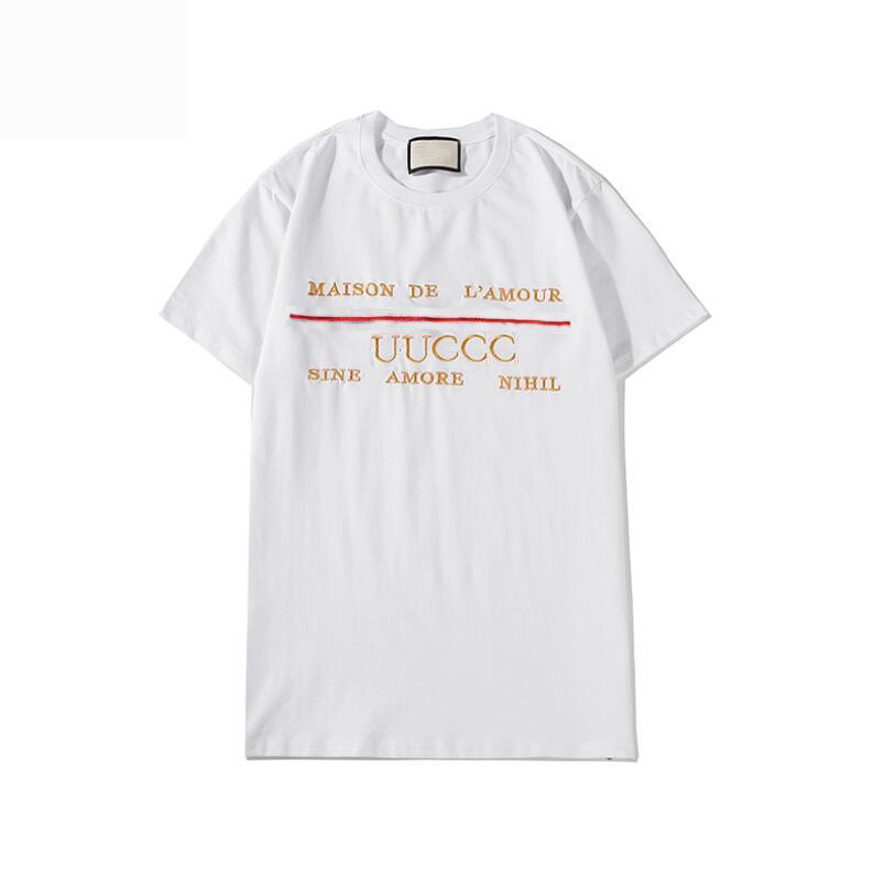20SS Made in Italy T-shirt do verão com moda letras impressas T-shirt de manga curta Homens Mulheres de luxo de alta qualidade vestuário S-2XL