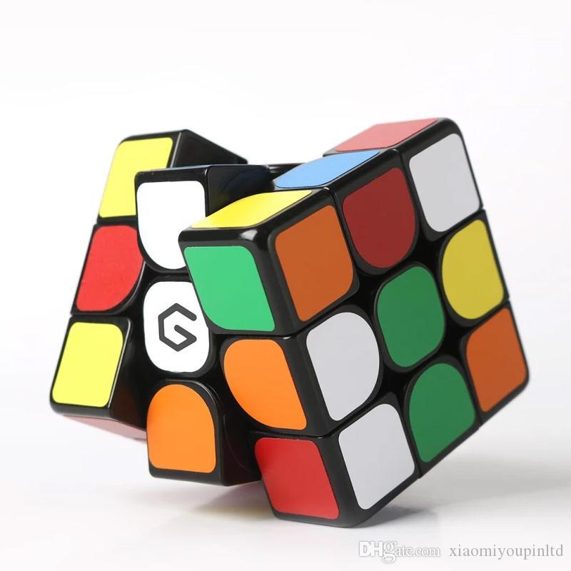 Оригинальный Xiaomiyoupin Giiker M3 магнитный куб 3x3x3 яркий цвет квадратный волшебный кубик головоломки науки образования работы с приложением Giiker 3011427-B1