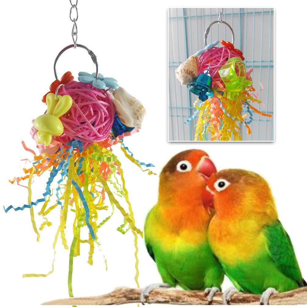 Parrot Bird Toys Parrot Gnaw Destruction Class Toys Insane Jellyfish Group Hair