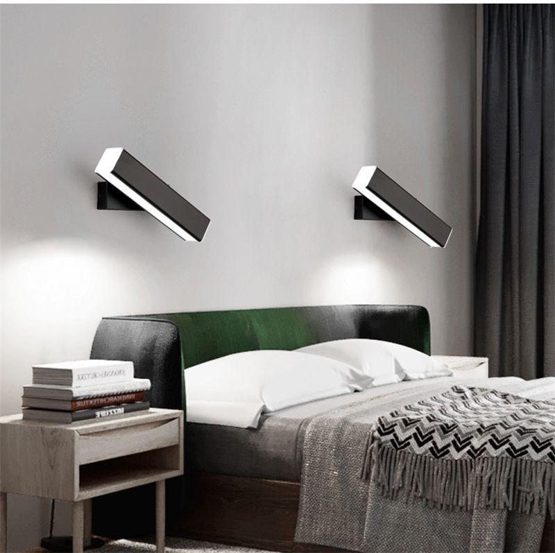 Moderne LED-Wandleuchten 100-240V Rotated Bedside LED-Wandleuchte für Wohnzimmer Treppen Schlafzimmer Nacht Bad Licht