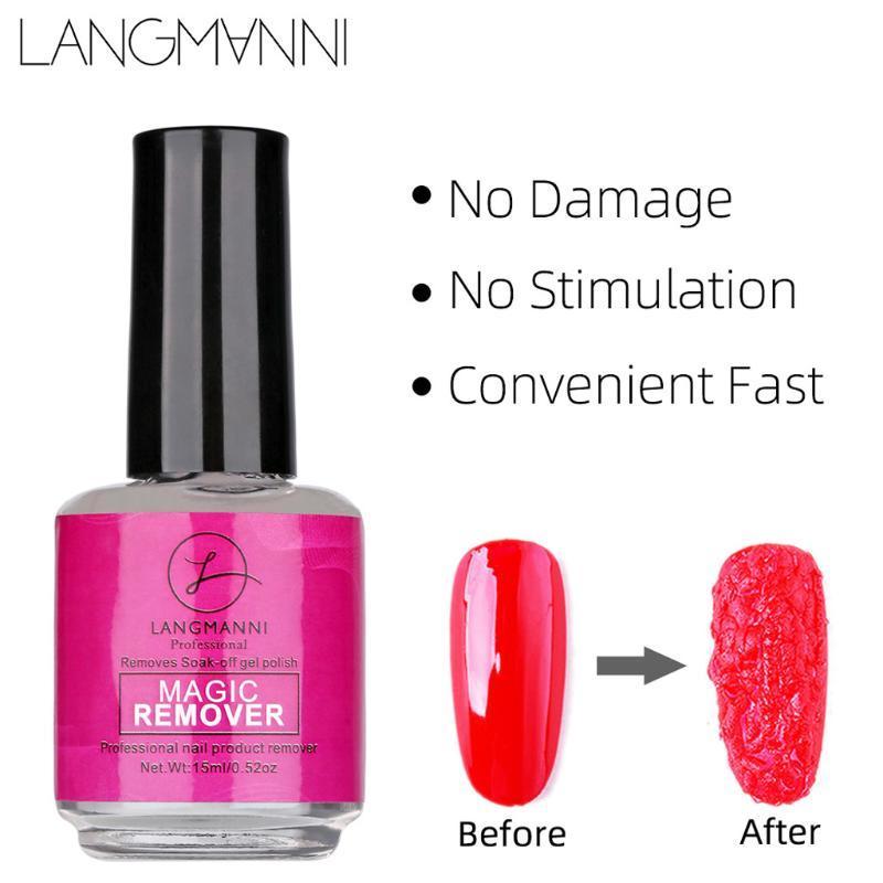 15ml New Nail Gel Burst Nail Polish Remover magique sain rapide Faire tremper Gel nettoyant UV Off Polish Décapant Acrylique