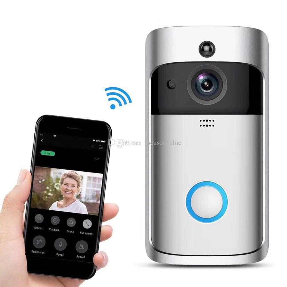 V5 Smart WiFi Video Doorbell Camera Visual Intercom with Chime HD 720P Night vision IP Door Bell Wireless Home Security surveillance Camera
