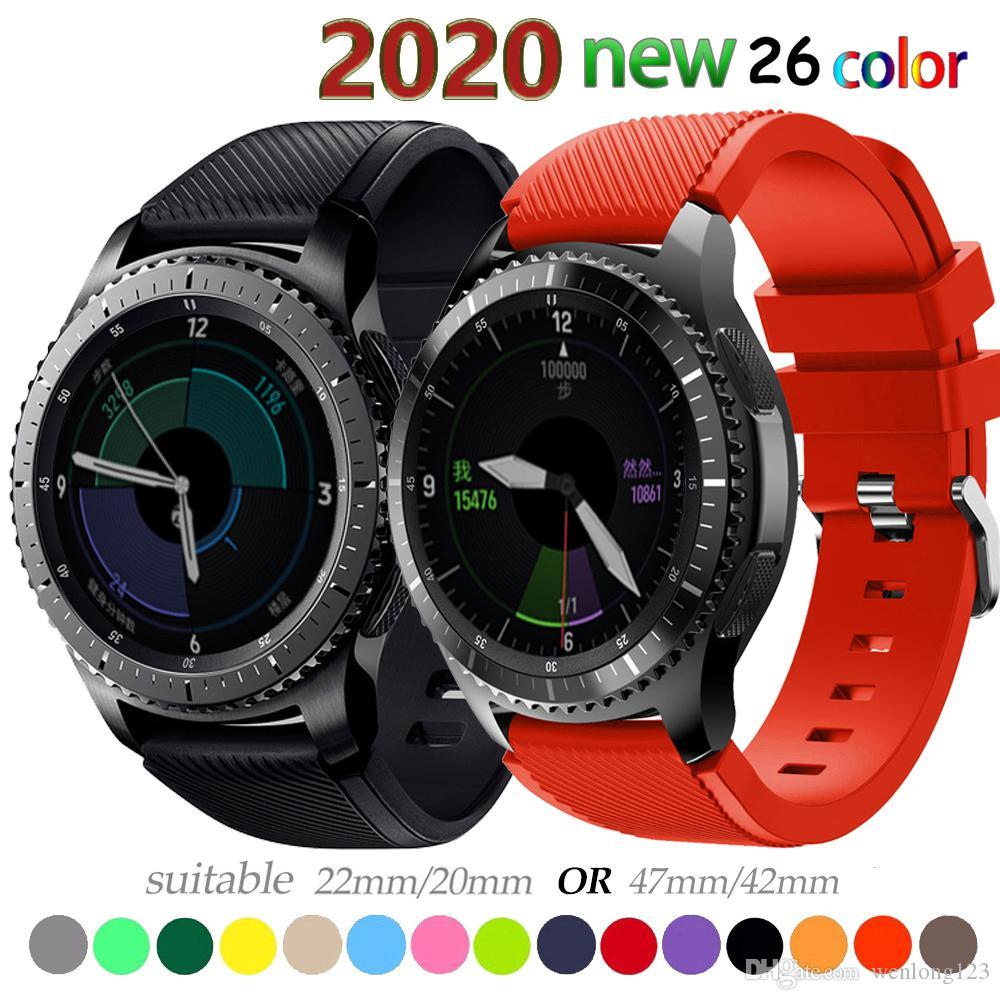 20 22мм диапазон вахты для Samsung Galaxy часов 46мм 42мм активного 2 шестерни S3 Frontier ремня HUAWEI часов GT 2 ремень amazfit бип 47 44
