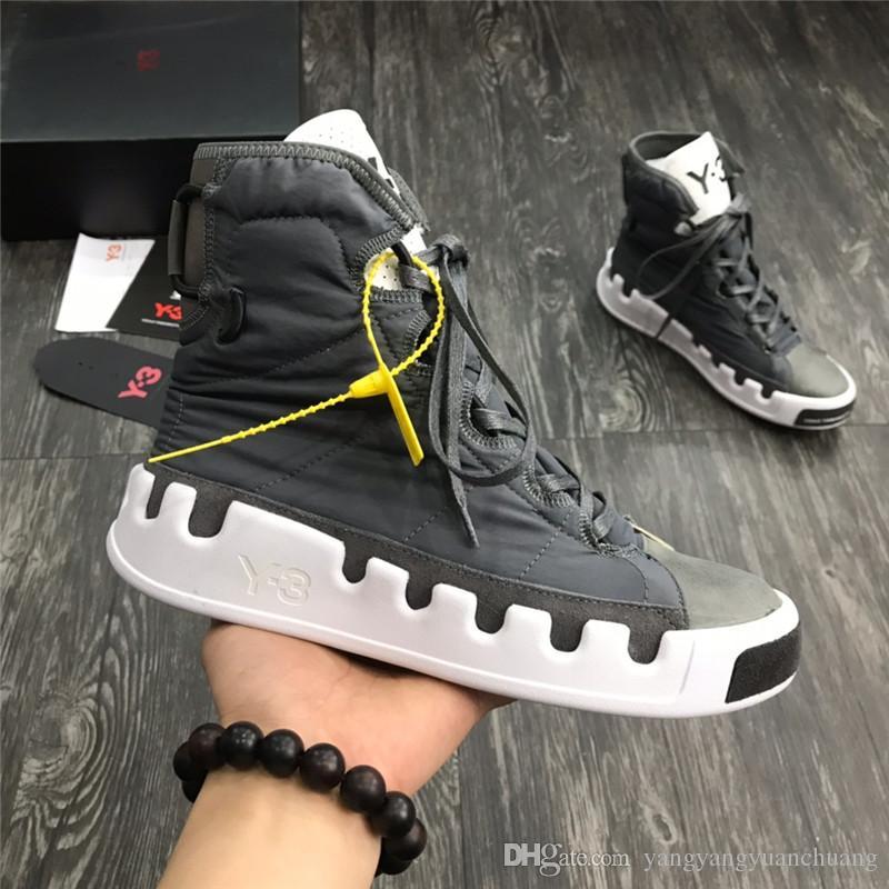 2021 Новый Топ Bashyo High Y3 Женские Черные Тройные Высокая Обувь Красные Кроссовки Бегущие Сапоги Тренеры Качество Белый Дизайнер Y-3 Мужская UKBX