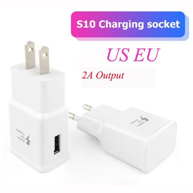Adaptive ricarica rapida USB 5V 2A parete Quick Charger Adapter US spina di UE per Samsung Galaxy S10e S9 S10 S8 Inoltre S7 bordo Nota 4 mq50