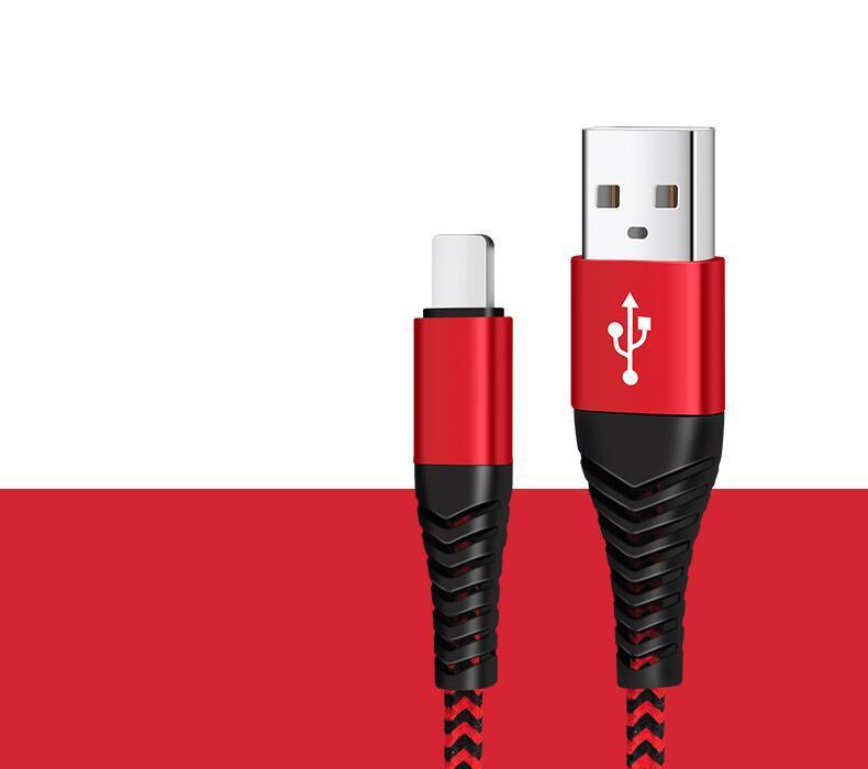 عالية المقاومة USB كيبل 1M 3FT 2A الشحن متزامنة تهمة بيانات USB الحبل نوع C كابلات للهاتف S10 ملاحظة 10 زائد