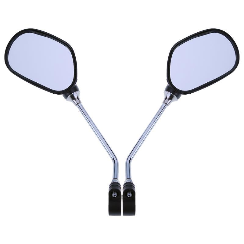 Ver 1pair bicicleta Retrovisor guiador espelho Ciclismo traseira MTB bicicleta Wide Range Voltar Visão refletor ângulo ajustável Vidro Espelho