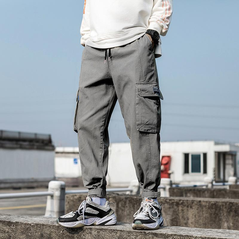 2020 nero Men Casual Harem Pants primavera Hip Hop Pants Mens estate grandi tasche Streetwear Maschio Tute pantaloni