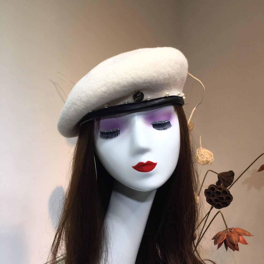 женщины шляпы темперамент элегантной высококачественного кашемира береты WSJ012 осень и зима новый высокого качества берет wsj188