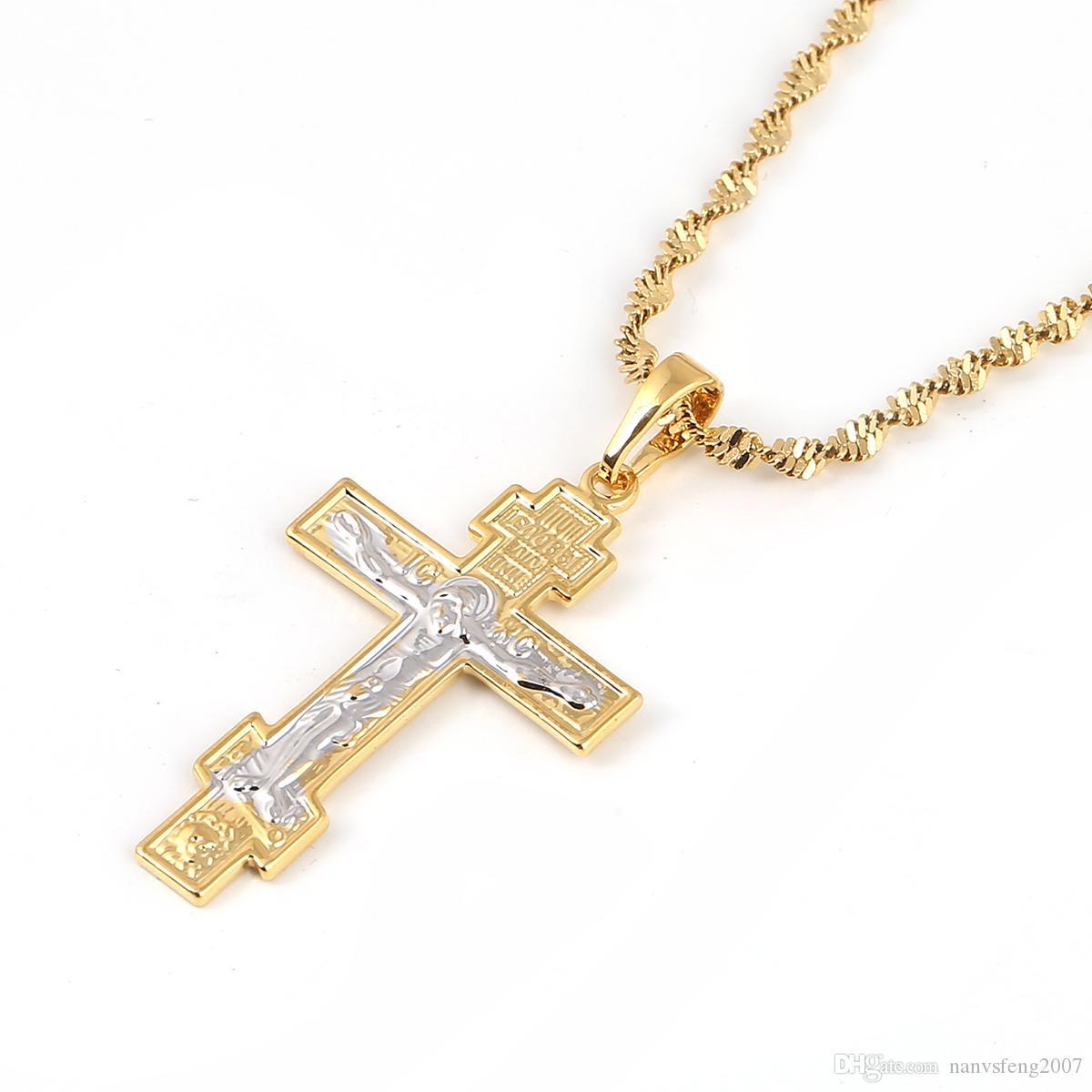 Iglesia ortodoxa rusa cristianismo eterna cruz encantos colgante collar joyería Rusia grecia ucrania regalos
