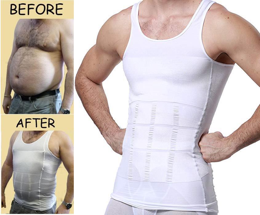 남성 슬리밍 바디 셰이퍼 조끼 압축 셔츠 근육 탱크 탑 쉐이프웨어 운동 땀받이 슬리밍 조끼 셔츠 복근 복부 슬림