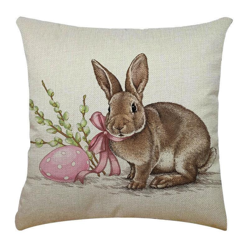 Black And White Decorative Throw Rabbit Pillows Case Plush Fabric Sofa Chaise Cushion Er Nordic Geometric Almofada Letter Cojines#780