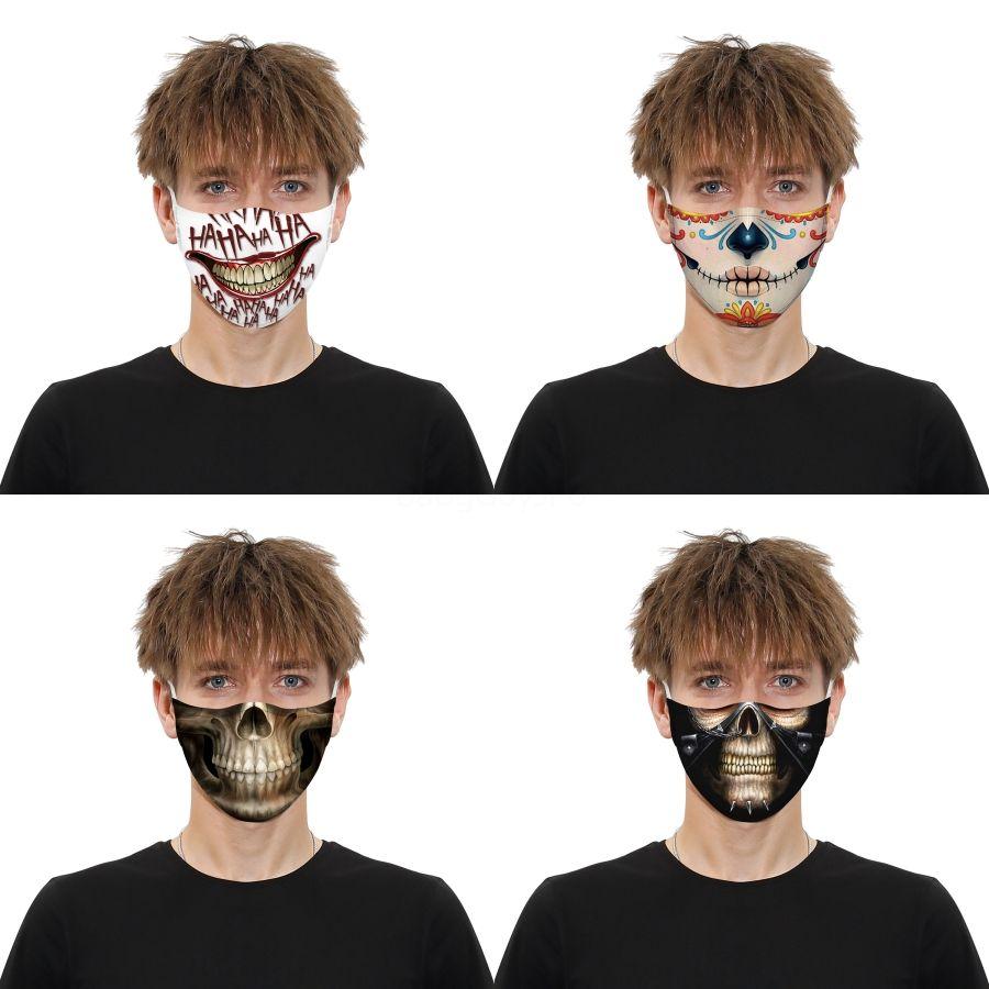 Máscara Flag Mulheres Funny Face dos desenhos animados Imprimir Dener Dustproof Máscara Ultraviolet-Proof lavável Correndo Máscara equitação Ike Protective # QA23 # 829