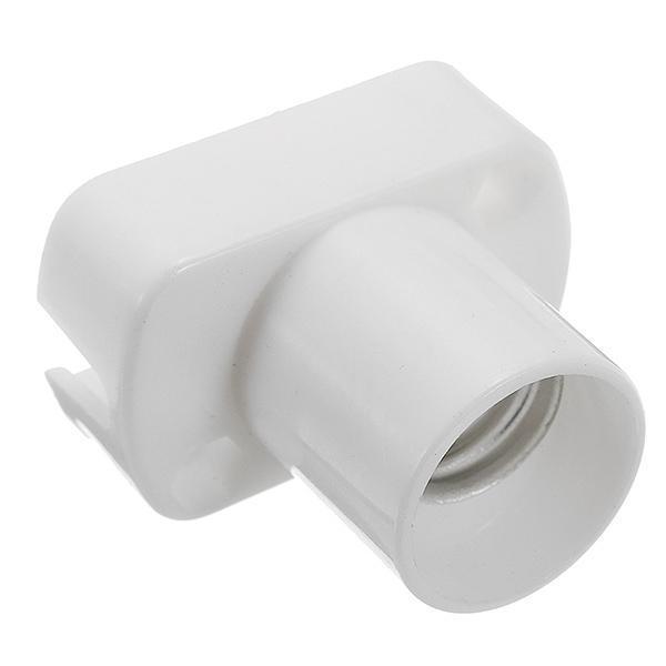 Titular Claite E14 luz lâmpada soquete retângulo branco suporte da lâmpada Para lâmpada LED Luz AC250V Lampholder Nova