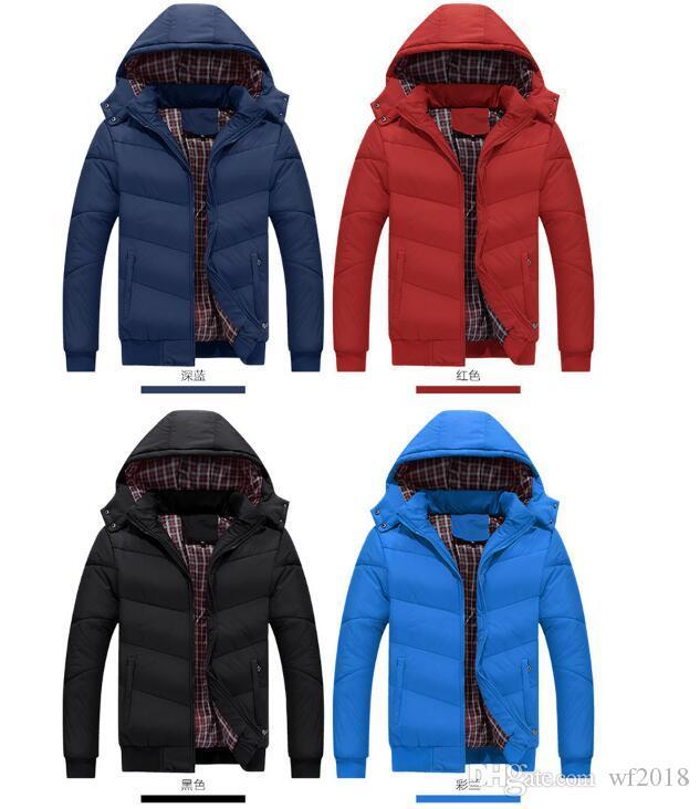 2019 Мужчины Зимние куртки пальто Теплый пуховик Открытый капюшоном Мужские Толстые искусственного меха Внутренний ветровки плюс размер известная марка