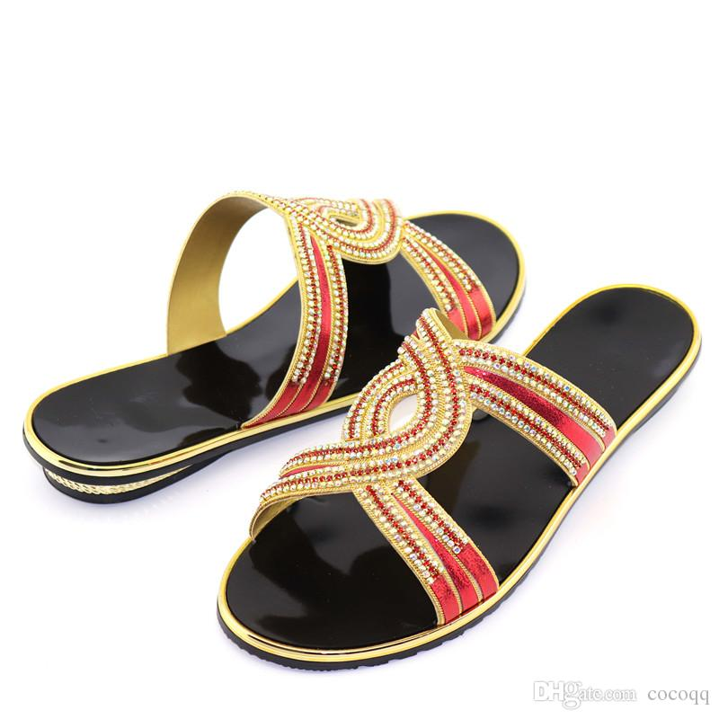High Heels Open Toe Sandals Slip on African Women Party Shoes Decorated with Rhinestone Womens Shoes Heels Elegant Italian Shoes ! FF1-1