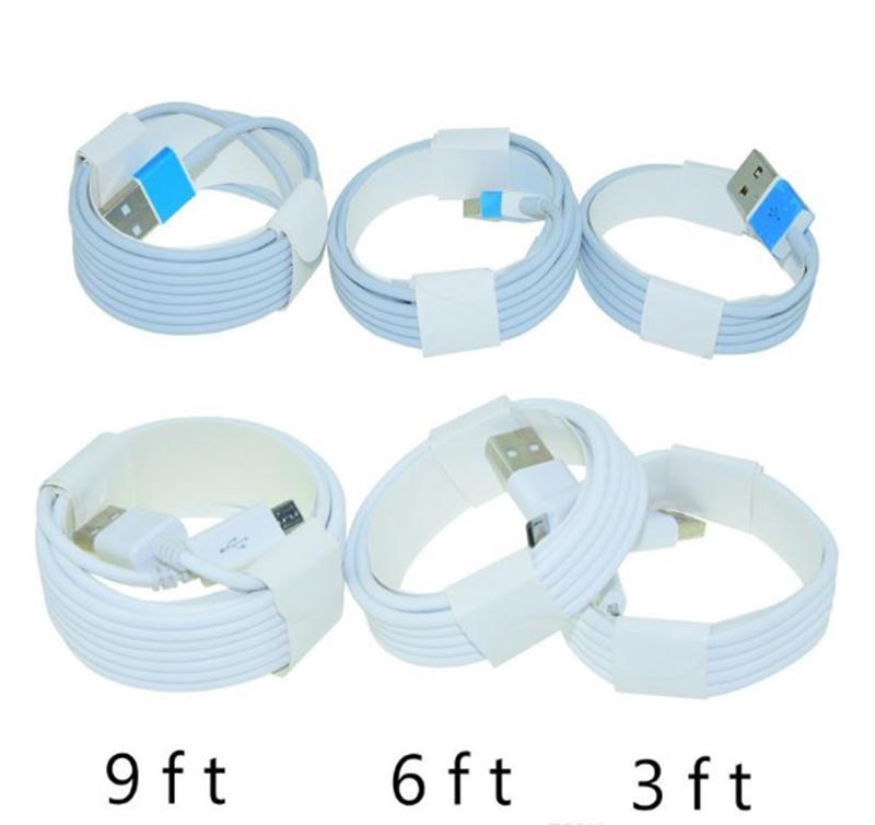 شكا مجانية أو فيديكس مايكرو USB شاحن كابل نوع C كابل 1M 3FT 2M و 6ft 3M 9FT لالروبوت سامسونج S9 S8 كابل الهاتف