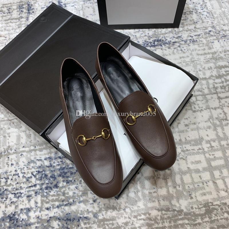 2020 haute qualité mode la dernière vente chaude classique dames En Cuir Chaussures designer De Mode Dames Dames En Cuir Sandales Taille 3440 00588